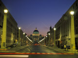 Saint Peter&#39;s Square at Vatican City at Night
