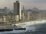 Decaying Facades in Havana's Malecon Await Restoration