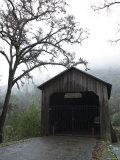 Honey Run Three-Level Covered Bridge Entrance View  California