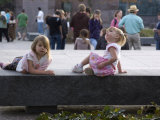 Kids Relax at the Fdr Memorial  Washington  DC