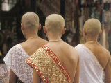 Novice Monks at a Ceremony in Siem Reap  Cambodia  at the Temples of Angkor