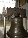 Independence Hall Overlooking the Liberty Bell