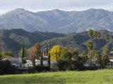 Monte Via Neighborhood and the Santa Ynez Mountains  California