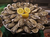 Oysters on Display in the Street to Attract Customers  Paris  France