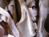Heap of Ballet Shoes at Ballerina Camp  Aspen  Colorado
