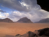 Landscape of the Desert and Mountains in Petra  Jordan