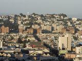 San Francisco Skyline from the Top of Polk Street  California