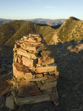 Rock Cairn on Topatopa Bluff in the Sespe Wilderness  California