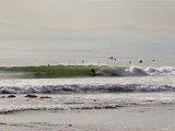 Nice Waves and Surfer Getting Barreled at Faria Beach  California