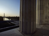 Reflecting Pool and Washington Monument Seen from Lincoln Memorial  Washington  DC