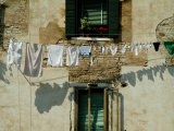 Laundry Hanging on a Line in Venice  Italy