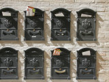 Mailboxes Lined on a Stone Wall  Ravenna  Italy