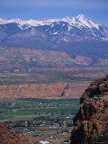 Moab Valley and the la Sal's from Hidden Valley Trail  Utah