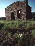 Ruins of a Stone Building in a New Mexican Ghost Town  New Mexico