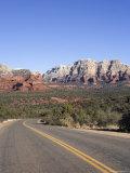 Road in Sedona Arizona  USA