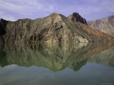 Reflections of Mountains in the Quiet Yellow River  Qinghai  China