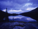 Mead Lake During Evening Light in the Bighorn Mountains  Wyoming