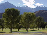 Mount Whitney Golf Club Course and the Eastern Sierra Mountains  California