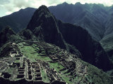 Machu Picchu  A Pre-Columian Inca Ruin Located in the Andes Mountains