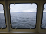 Looking Out a Ferry Boat Window on Lake Champlain