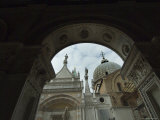 Looking Through Archway at Courtyard of the Doges Palace  Venice  Italy