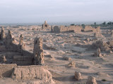 Ruins of the Ancient City of Jiaohe near Turpan  China