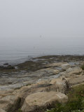 New London Ledge Light in the Dense Fog as Seen from the Shore