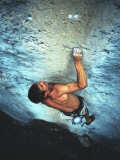 Man Rock Climbing in the Big Horn Mountains of Wyoming