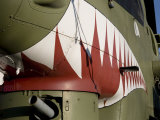 Mouth with Big Teeth Painted on Us Army Cobra Helicopter  New Bedford  Massachusetts