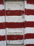 Red and White Painted Door  Arizona