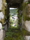 Moss Covered Battlement Hole in Ancient British Fort in Nicaragua