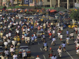 Motorcycles Choke the Streets During Rush Hour in Kaosiung