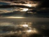 Sun Rays at Sunset in Chatam Strait  Motion Blur  Alaska