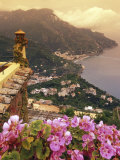 Sea and Flowers from Hotel Polumbo in Ravello  Italy