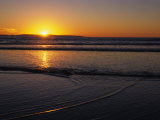 Sunset over the Pacific Ocean  Ventura  California