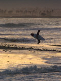 Surfer Silhouette at Ventura Point  California