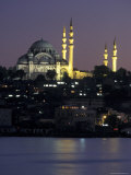 Suleymaniye Mosque Seen from Galata Bridge  Istanbul  Turkey