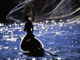 Traditional Fishermen Throw their Net on Lake Victoria