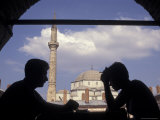 Two Silhouettes in the Caravansari in the Izmir Old City Bazaar