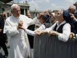 Pope John Paul II Blesses a Group of Nuns