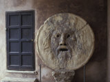 The Mouth of Truth Plate in Rome  Italy