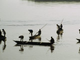 Men Fish Together near Jamalpur on the Old Brahmaputra River