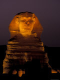 Sphinx at Night in Giza  Egypt