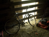 Old Bicycle Catches the Sunlight at the Fenton Farm near Greenleaf  Kansas
