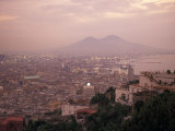 The City of Naples and Mount Vesuvius at the Bay of Naples in Italy