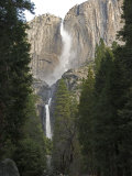 Upper and Lower Yosemite Falls in the Winter  California