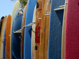 Row of Surfboards  Waikiki Beach  Hawaii