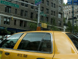 New York City Taxi as Seen from Inside Another Taxi