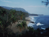 View Along the Shoreline at Lumahai Beach  Kauai  Hawaii