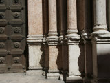 Stone Pillars Outside Building  Parma  Italy
